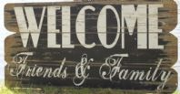 Large Rustic Wooden 'Welcome' Wall Sign